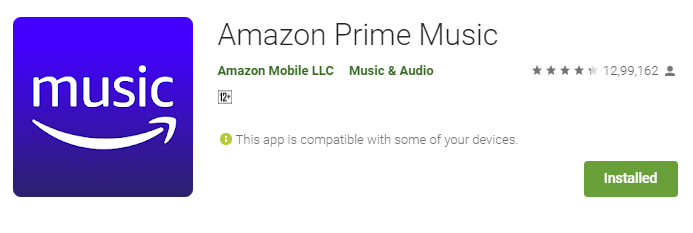 Amazon Prime Music offer