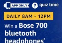 Amazon Bose 700 Bluetooth Headphones Quiz