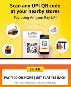 Amazon Scan & Pay Offer