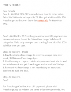 Freecharge deal