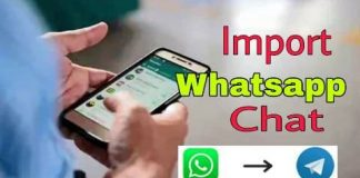 How to import whatsapp chat into telegram